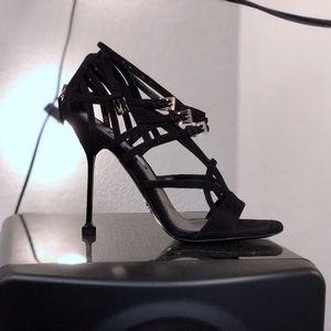 PRADA brand new Black Suede Dress Heels